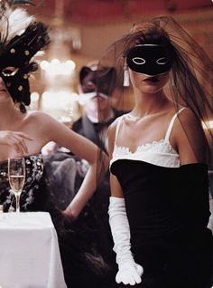 I was dreaming, we attended a ball ..    Photographer: Steven Meisel