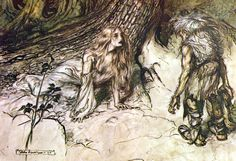 Ring of the Nibelung illustration by Arthur Rackham