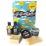 Uplifted gift: Let us uplift your spirits the way we know how; through gorgeous essential oil blends in fantastic skincare products. This box contains six inspiring treats for the shower, including soap, shower jelly and two shower gels to get you going on early mornings, put you in a good mood and, well, clean your skin. Our best-selling Ocean Salt scrub brightens and cleanses face and body while Buffy Body Butter moisturizes and exfoliates in the shower. Now you're ready to face the day.
