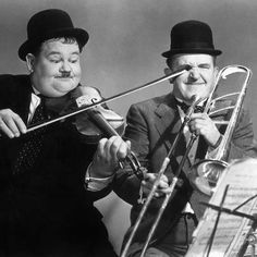 Laurel and Hardy~ As a kid I used to watch them early Saturday mornings on this show, Starstuff, which only ran on Philadelphia owned stations.The show was about a kid in space and he enjoyed watching Laurel and Hardy. These two always make me laugh. Great comedy team.