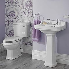 Add traditional elegance to your home with the Milano Rowan cloakroom suite