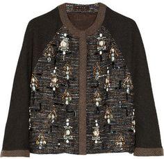Biyan Colbie embellished tweed kimono-style jacket on shopstyle.com