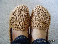 モチーフ編みのルームシューズの作り方|編み物|編み物・手芸・ソーイング|ハンドメイドカテゴリ|アトリエ