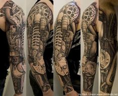 Biomechanics tattoo - 25 Awesome Steampunk tattoo designs | Art and Design