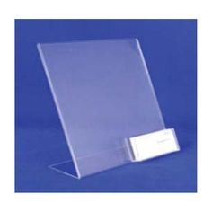 8 1/2W x 11H x 5/64T Clear Acrylic Literature Holder with Card Holder/Case of 4
