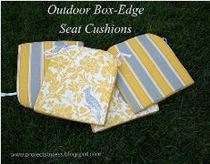 DIY make new cushions for your patio furniture