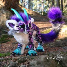 Fruit-Bat-Phoenix - OOAK posable fantasy creatures and Cute Fantasy Creatures, Mythical Creatures Art, Cute Creatures, Beautiful Creatures, Animals Beautiful, Baby Animals Super Cute, Cute Little Animals, Cute Animal Drawings, Cute Drawings