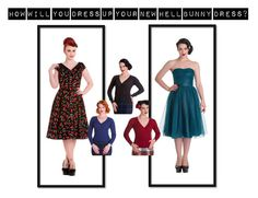 """""""How Will You Dress Up Your New Hell Bunny Dress?"""" by bluebanana on Polyvore featuring vintage"""