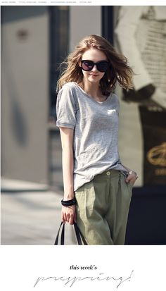 Fashion Comfortable Short Sleeve T-shirt Bottoming Blouse Grey LG15041617http://www.clothing-dropship.com/fashion-comfortable-short-sleeve-t-shirt-bottoming-blouse-grey-g2333435.html