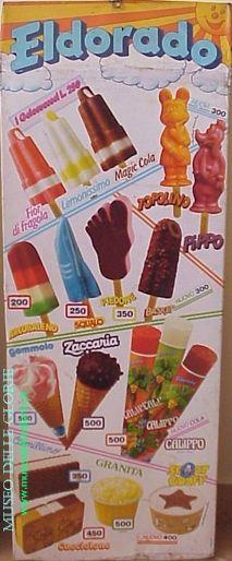 I gelati dei bambini italiani degli anni 70: Toseroni, Tanara, Algida, Motta, Besana, Cecchi, Chiavacci