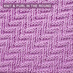 """This pattern is perfect for a simple scarf, such as a beginner might make as soon as she has learned to knit purl and knit in the round. Such a scarf shows the same attractive texture any way it is turned, and looks very """"professional"""" despite the simplicity of the pattern."""