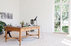 Ingegerd Ramen Home Office with Floor Outlet, Remodelista