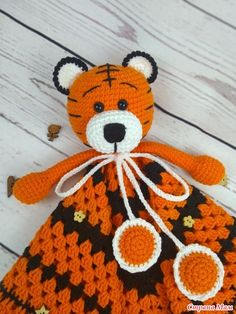 Crochet Lovey, Crochet Lion, Crochet Baby Toys, Knitted Baby Clothes, Crochet Bebe, Baby Knitting, Knit Crochet, Crochet Hats, Baby Security Blanket