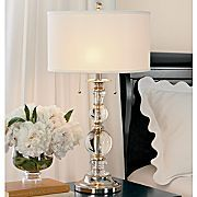 Cindy Crawford Crystal lamp...I saw one like this but with squares and loved it!