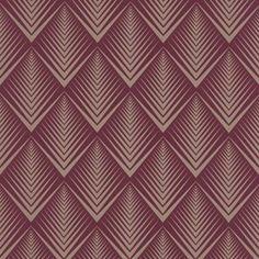 Art deco wallpaper in burgundy and cream Motif Art Deco, Art Deco Pattern, Art Deco Design, Pattern Design, Art Deco Wallpaper, Designer Wallpaper, Pattern Wallpaper, Wallpaper Ideas, Textures Patterns