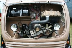 DKW Engine compartment 1957 Schnellaster DKW Combi
