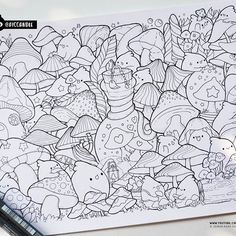 Drawing cute doodles coloring pages 47 Ideas Coloring Book Art, Doodle Coloring, Animal Coloring Pages, Colouring, Love Doodles, Kawaii Doodles, Kawaii Art, Love Drawings, Doodle Drawings
