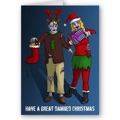 """Xmas Zombies"" - christmas card by Lee Leplaw Deichmann"
