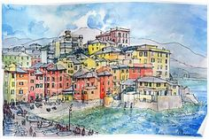 Genova Boccadasse (Liguria-Italy) Poster
