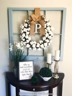 DIY Cotton Wreath Fo