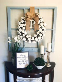 DIY Cotton Wreath Fo