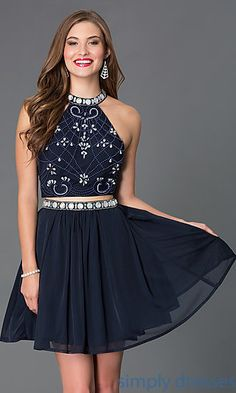 High Neck Two Piece Homecoming Dress 6165 at SimplyDresses.com