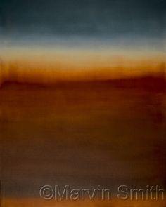 Arte Contemporáneo - Untitled (Burnt Sienna y Azul Ultramar) (Arte original de Marvin Smith)