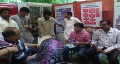 Discussion on agricultural development at Hari Mela.