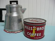 1950s Hills Bros Brothers Coffee Can Regular by NewLIfeVintageRVs