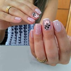 Pretty Nail Designs, Best Nail Art Designs, Fabulous Nails, Perfect Nails, Cute Nails, Pretty Nails, Belle Nails, Romantic Nails, Manicure E Pedicure