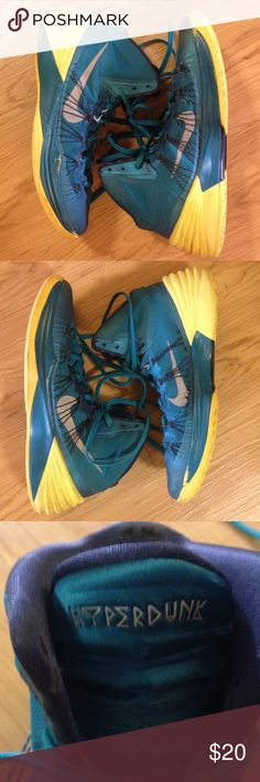 Vtg Jordan Hyperdunk Shoes These shoes show much wear. I bought them to restore but my restoration pile is getting too large so I'm parting with these for what I paid. Again, they show MUCH wear but they are super dope kicks. Size 11.5 Nike Shoes Sneakers
