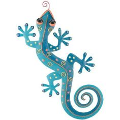 Wall Art Decor Gecko Spotted Blue (10Wx20) - Regal Art #R160 by Regal Art and Gift. $24.95. Mix And Match Items In Same Or Different Themes.. Extensive Handcrafting Is Put Into Each Piece.. Use Of Richly Colored Automobile Paint Creates Quality, Durable Finish.. Special Painting Techniques Creates A 'Patina' Effect.. This Wall Art Decor Gecko Spotted Blue (10Wx20) - Regal Art #R160 is hand-painted metal with stunning three dimensional details and rich colors. Special painting tec...