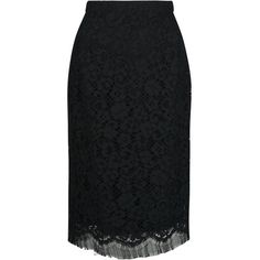 DOLCE & GABBANA lace pencil kirt ($86,990) ❤ liked on Polyvore featuring skirts, lace skirt, high waisted pencil skirt, knee length lace skirt, black pencil skirt and high waisted knee length skirt