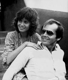Maria Schneider and Jack Nicholson on the set of The Passenger, 1975