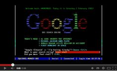 What Google would look like if it was invented during the 1980s