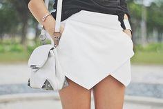 b20c521ea Origami skort ♥ Origami Skirt, White Skort, Wrap Skort, Culotte Shorts,  Skirts