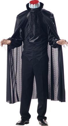 This Halloween season, bring the legend of Sleepy Hollow to life in this Adult Headless Horseman Costume, and persuade Ichabod Crane to leave Sleepy Hollow! Wear it with your own black pants, or bu… Men Halloween, Halloween Costumes For Sale, Looks Halloween, Halloween Fancy Dress, Halloween Supplies, Trendy Halloween, Halloween Festival, Halloween Season, Spirit Halloween