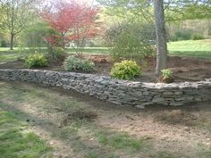 Stone Retaining Walls | Natural Stone Retaining Wall and Flower Bed – Salem, NH