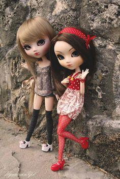 Eve & Hanabi (Pullips Veritas & Custom) by ·Nymphetamine Girl·, via Flickr