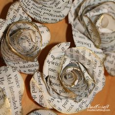 Book page flowers or newsprint are so fanciful and fun! Great for a fabulous bouquet...and a nod to Belle from Beauty and the Beast!