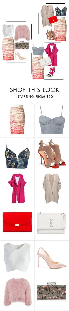 """""""which combination is your favorite?!"""" by insoninees ❤ liked on Polyvore featuring Altuzarra, Apiece Apart, Zimmermann, Merci Me London, Splendid, Mansur Gavriel, Yves Saint Laurent, Chicwish, Jimmy Choo and Charlotte Simone"""