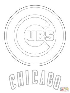 chicago cubs logo mlb baseball sport coloring pages printable and coloring book to print for free find more coloring pages online for kids and adults of - Chicago Blackhawks Coloring Pages