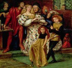 Dante Gabriel Rossetti - The Borgia Family, 1863