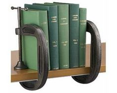 Clamps as DIY Bookends.