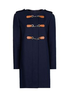 MANGO - Coat with lobster clasp fastening