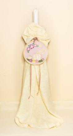 Vintage Christening Candle for Girl. Baby Girl Baptism, Girl Christening, Gifts For Newborn Boy, Big Candles, Baptism Candle, Wooden Hoop, The Little Prince, Easter Gift, Greek