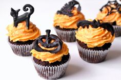 Halloween mini cupcake recept