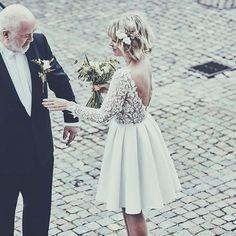 @tinedrevsholt having a sweet daddy daughter moment at her wedding ... She looks perfect in our clover dress #rimearodakybride #rimearodaky #myra #rimearodakybabe