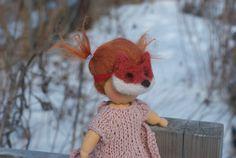 Fox Mask for Waldorf Doll Costume Toy Mask by HoorayForHannahs