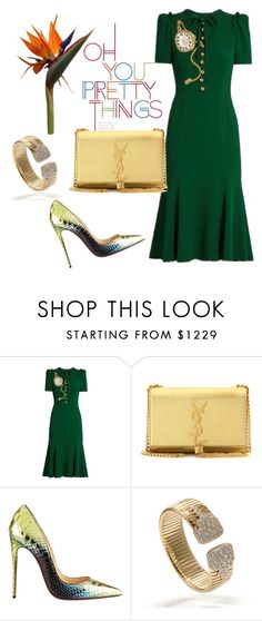 """""""It's Time for Dolce & Gabbana"""" by arta13 ❤ liked on Polyvore featuring Dolce&Gabbana, Yves Saint Laurent and Christian Louboutin"""
